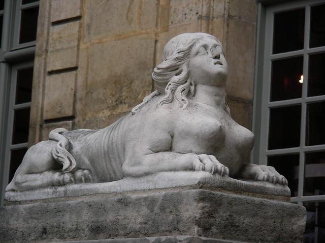 Paris sphinx sunning
