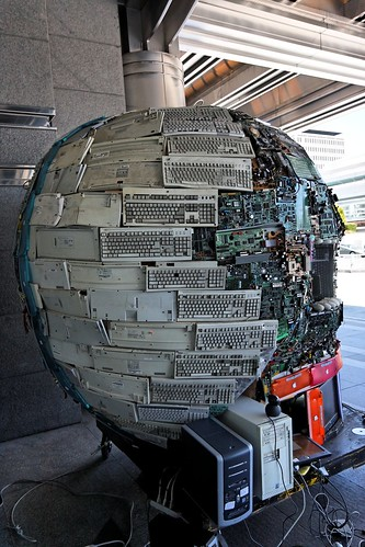 Death star made with recycled computer parts | by ennael_