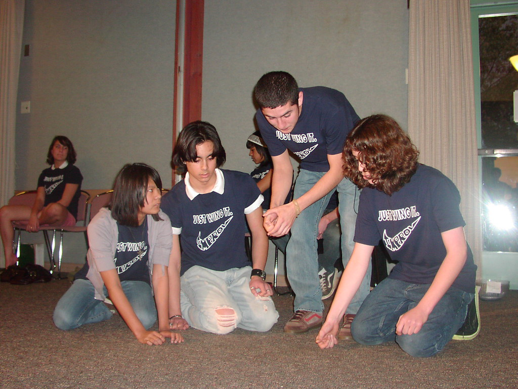 High School Improv Team perform at the Library   The team ...