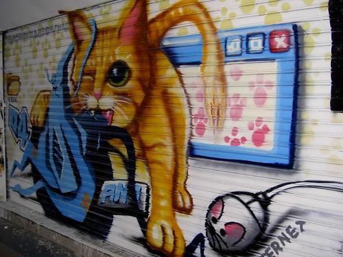 Spray-painted Street Art in Taipei, Taiwan