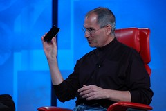 Steve Jobs with iPhone at D5 | by whatcounts