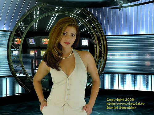 Supermodel Cici in the view3d.tv newsroom | by view3d.tv