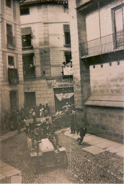 Alfonso XIII camino de Arco de Palacio. Fotografía de D. Pedro Román Martínez