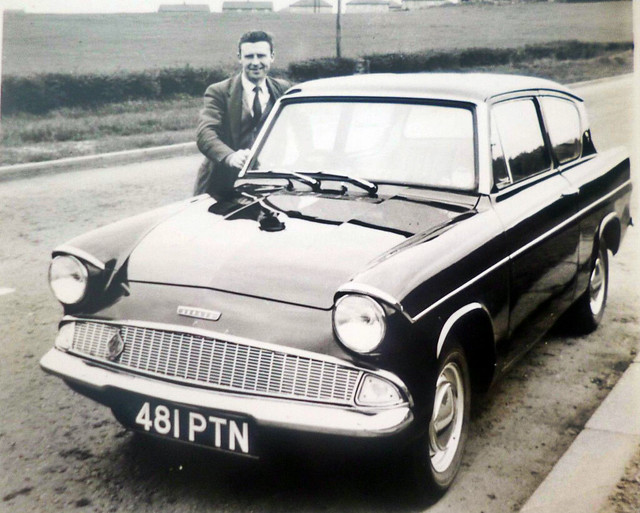 481 PTN - 'Proud Owner' Ford Anglia Deluxe 105E