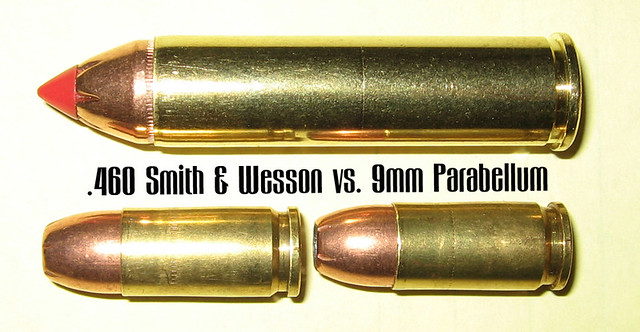 460 Smith & Wesson vs  9mm | I put this together as a compa