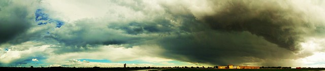 052111 - 2nd Daytime Thunderstorms of the Season - Pano