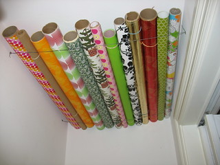wrapping paper storage solution | by frankfarm