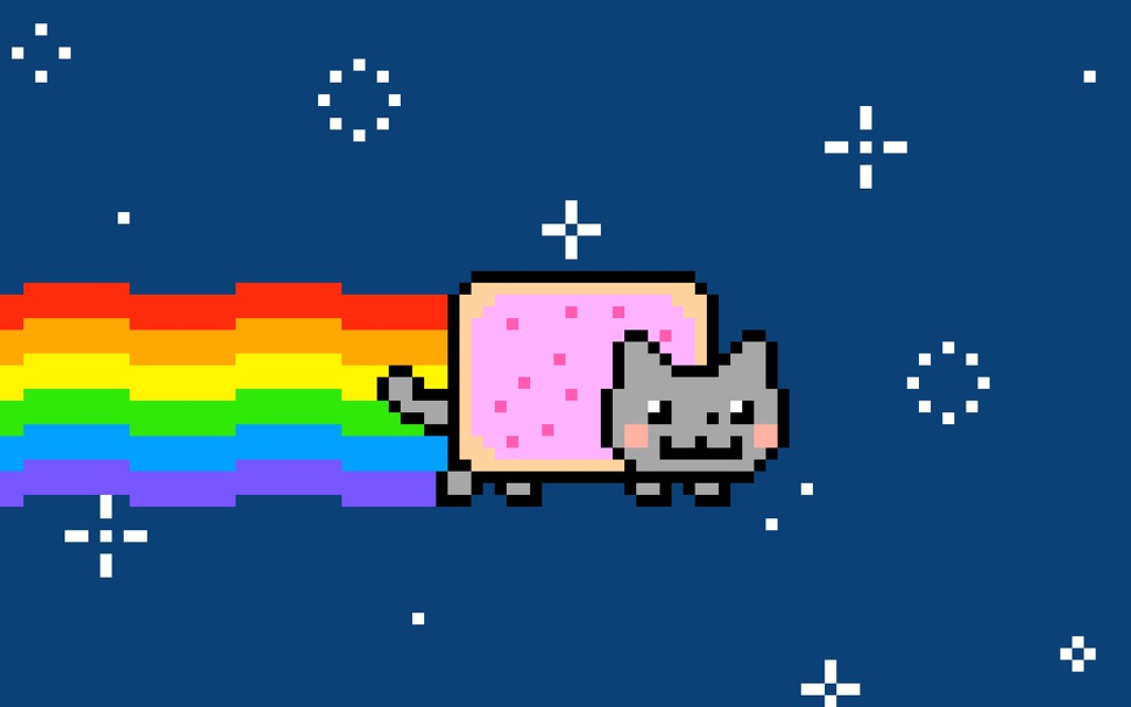 NFTs Non-Fungible Tokens Nyan Cat