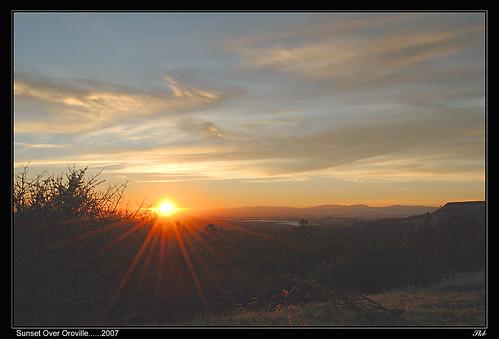 california sunset landscape oroville dphdr