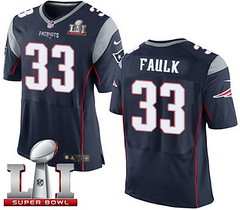 Nike Patriots #33 Kevin Faulk Navy Blue Team Color Super Bowl LI 51 Men's Stitched NFL New Elite Jersey