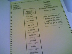 CT Primary Ballot | by geoff_fox