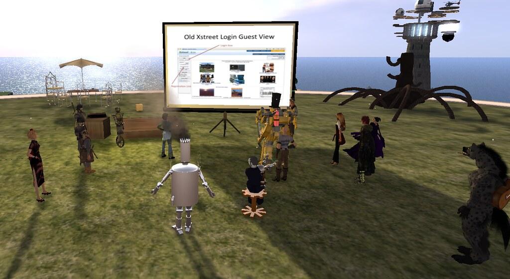 Studio Blighty working in Second  Life