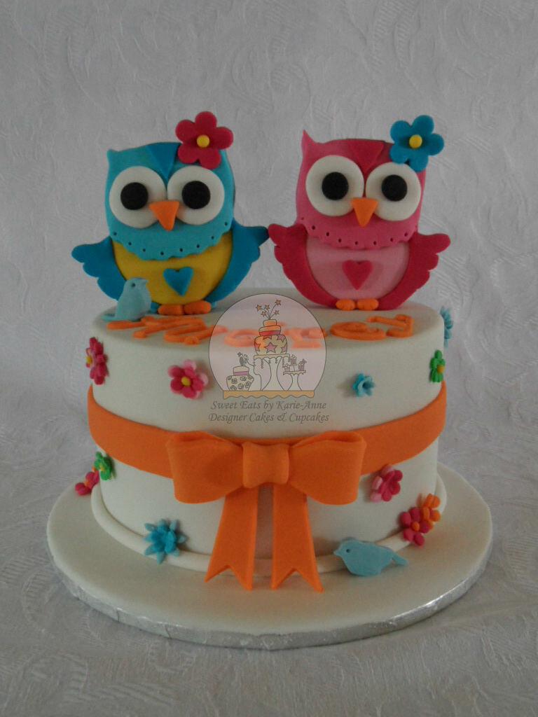 Wondrous Owl Themed 4Th Birthday Cake Copy This Design Was Inspir Flickr Birthday Cards Printable Nowaargucafe Filternl