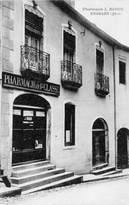 La pharmacie d'Orgelet dans les années 1930