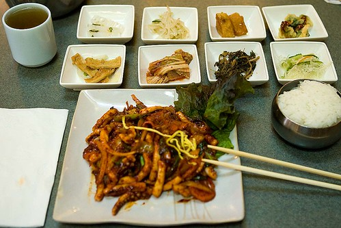 Oh Jing Uh Boke Um at Jong Ga House Korean Restaurant   by pointnshoot