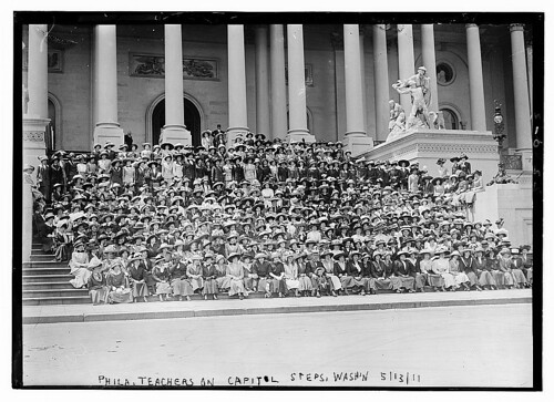 Phila. Teachers on Capitol Steps, Wash., D.C., 5/13/11  (LOC) | by The Library of Congress