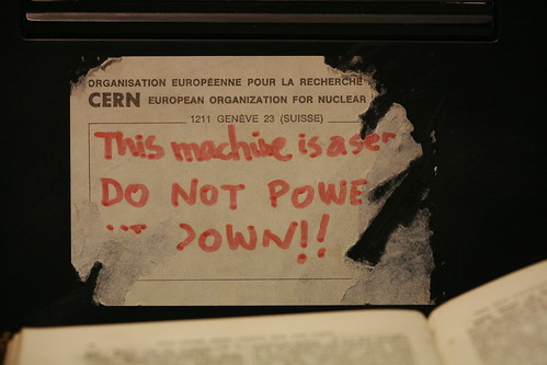 Tag on Tim Berners-Lee's original NeXT machine -- first Web server | by Robert Scoble