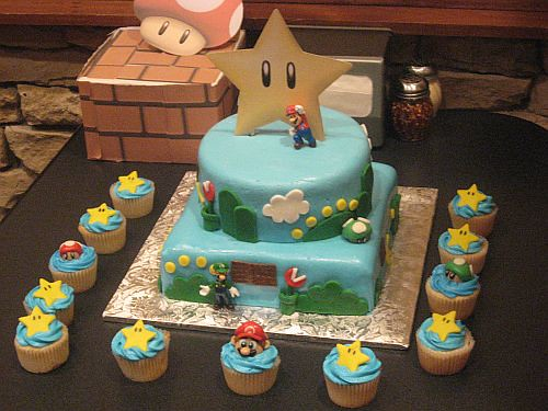 Astounding Super Mario Bros Birthday Cake Super Mario Bros Birthday Flickr Personalised Birthday Cards Akebfashionlily Jamesorg