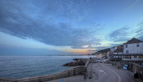 dorset england uk englishchannel englishriviera sky clouds sunsets landscape seascape jurassiccoast lymebay thecobb twilight explored
