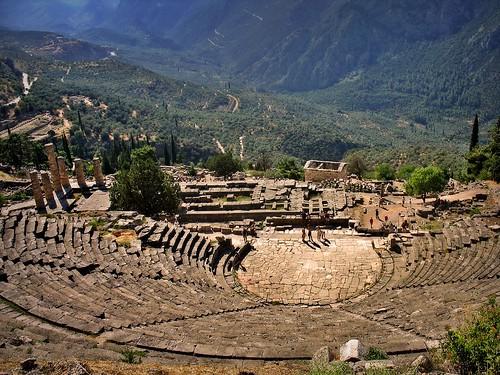 greek temple oracle ancienthistory ancient ruins europe theatre delphi greece civilization greekmythology architecure ancientgreece supershot 10faves abigfave anawesomeshot impressedbeauty aplusphoto