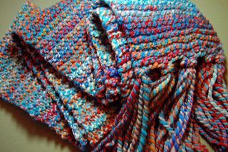Red Planet Blue scarf | by yarnzombie
