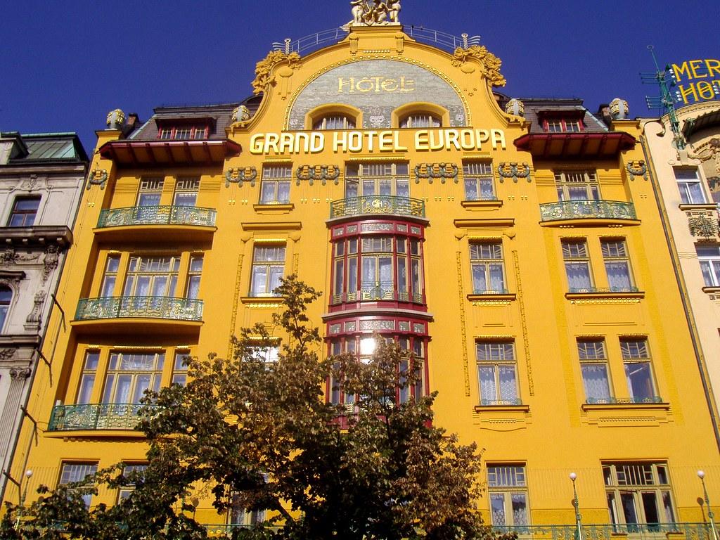 Prague Czech Republic Grand Hotel Europa Wenceslas Square Flickr