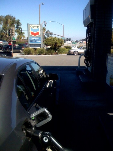 Pumping gas in Atherton, CA | by scriptingnews