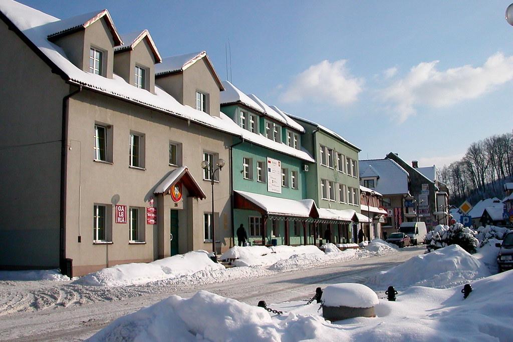 Dobczyce: Main street / Rynek