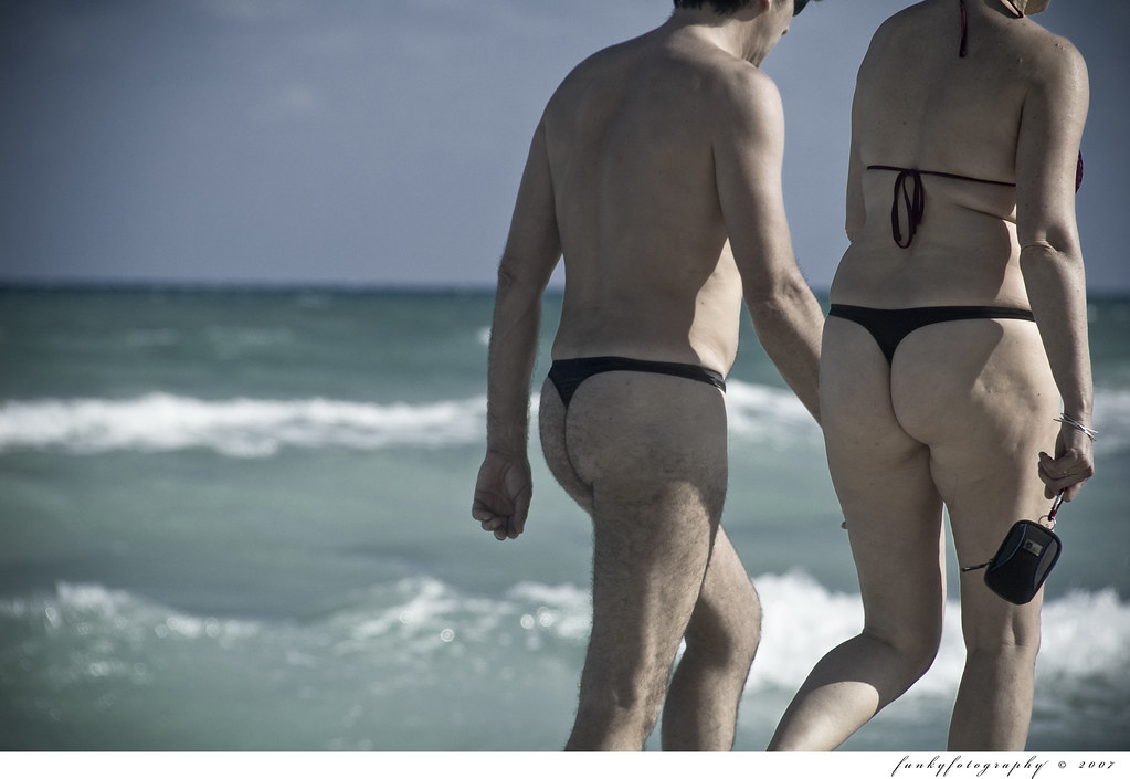 Thong Couple  You Gotta Love South Beach Permission Must -6729