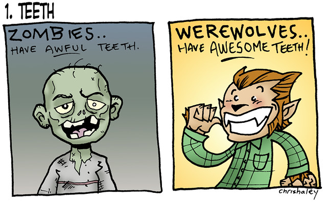 Werewolf vs Zombie : 1  Teeth   The first installment of my