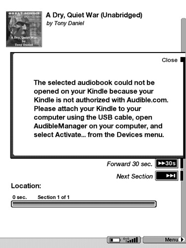 Kindle must be activated with Audible's software to play A… | Flickr