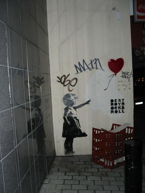 Banksy Balloon St John St, Smithfield London
