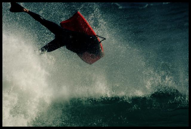 Escape velocity - Bodyboarding at Porthcurno, Cornwall