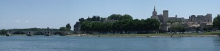 Avignon - River Rhone - Pont d'Avignon, Metropolitan Basilica, Notre-Dame des Doms, Cathedral of Avignon and Papal Palace | by ell brown