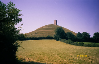 Looking back at Glastonbury Tor