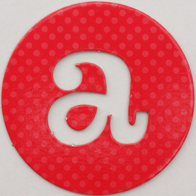 coloured card disc letter a