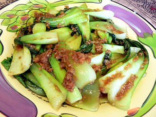 Stir-fried Bok Choy with Shrimp Paste | by :Salihan