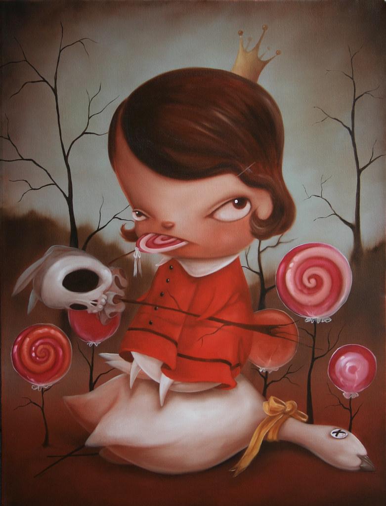 Kathie Olivas, Veruca Salt, oil on canvas, 24x30, 2500, Wi