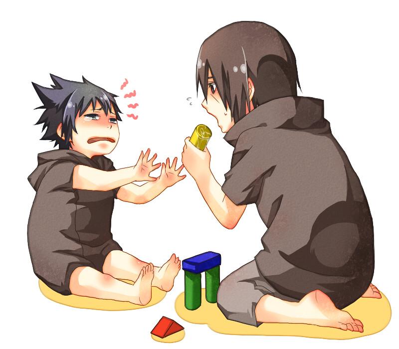 Baby Sasuke And Itachi X3 Awwness Its Soooo Cute Flickr
