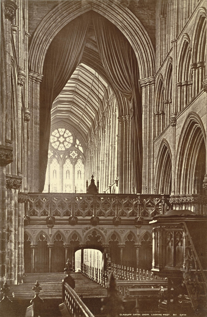 Glasgow Cathedral. Choir, Looking West (Interior