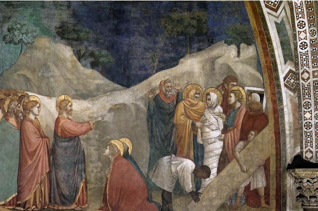 Giotto -  Assisi, Basilica Inferiore, Cappella della Maddalena, La resurrezione di Lazzaro