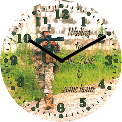 Soldier Away From Home Clock | by customclockface