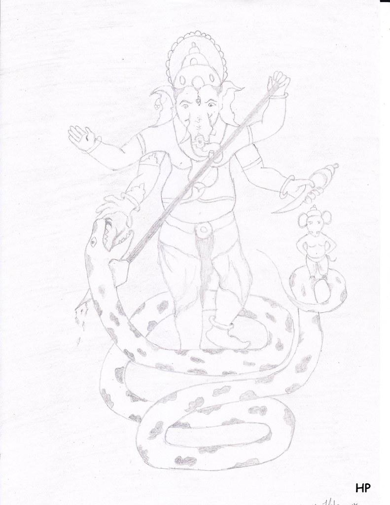 Ganesh sketch by creative p