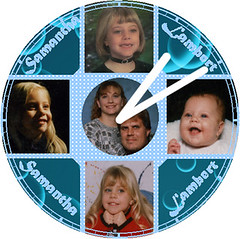 Samantha Growing Up Clock | by customclockface