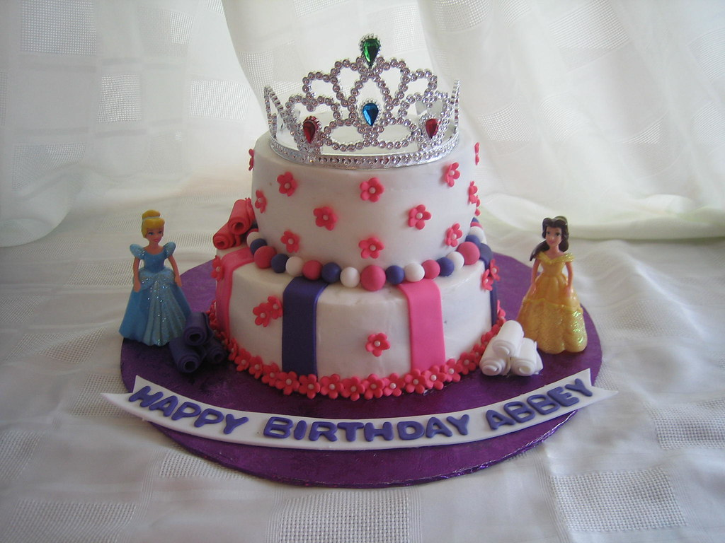 Stupendous Disney Princess Birthday Cake Disney Princess Birthday Cak Flickr Funny Birthday Cards Online Elaedamsfinfo