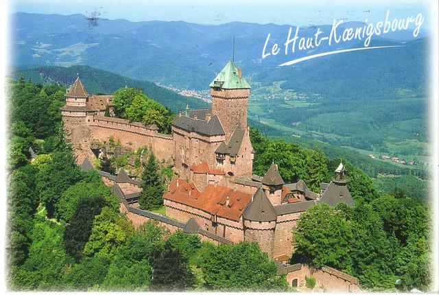 Castle of Haut-Koenigsbourg, France Postcard