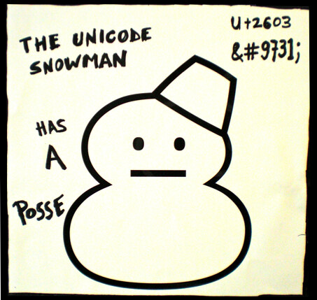 The Unicode Snowman Has A Posse | by psd