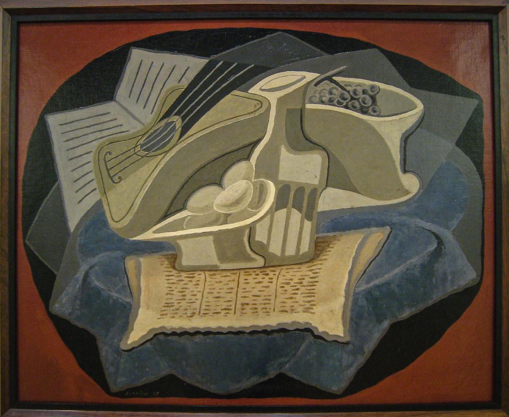 Juan Gris Le Tapis Bleu 1925 Pompidou Sharon Mollerus Flickr