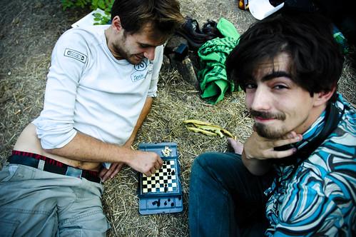 Playing chess: Misha