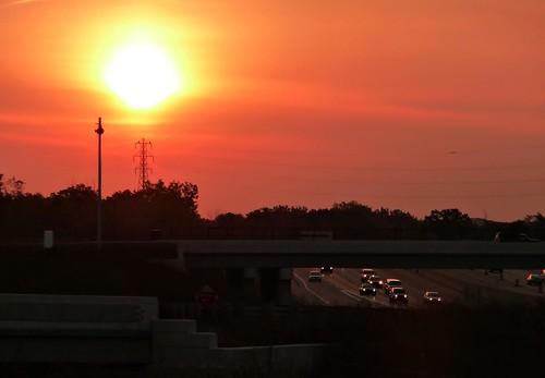 bridge autumn sky sun fall sunrise dawn ramp michigan overpass panasonic freeway expressway 2009 m59 tz5